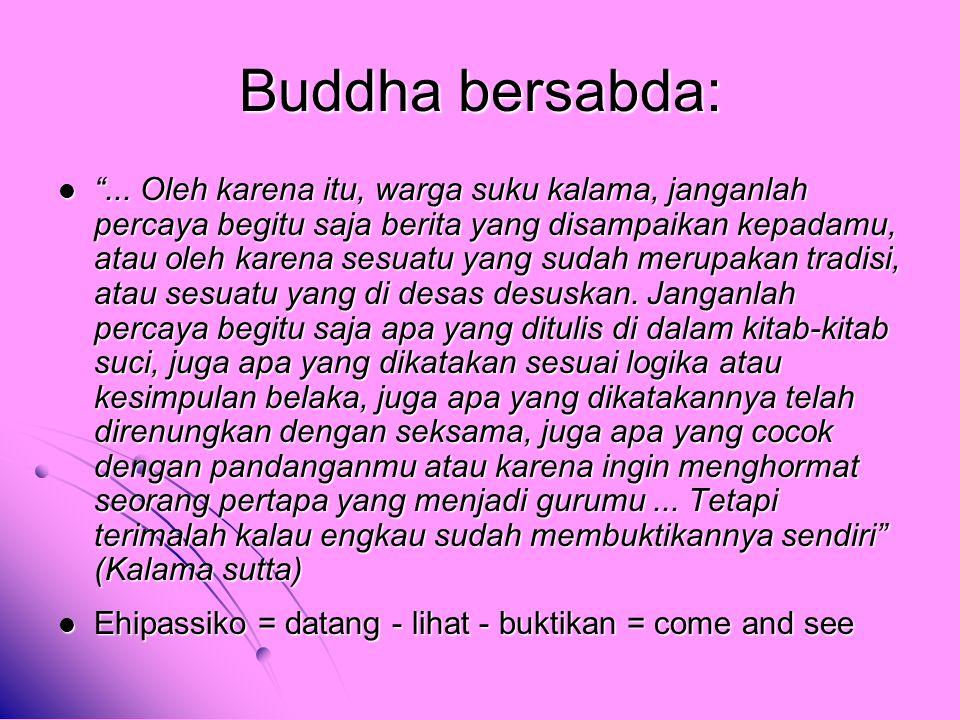 Buddha bersabda: