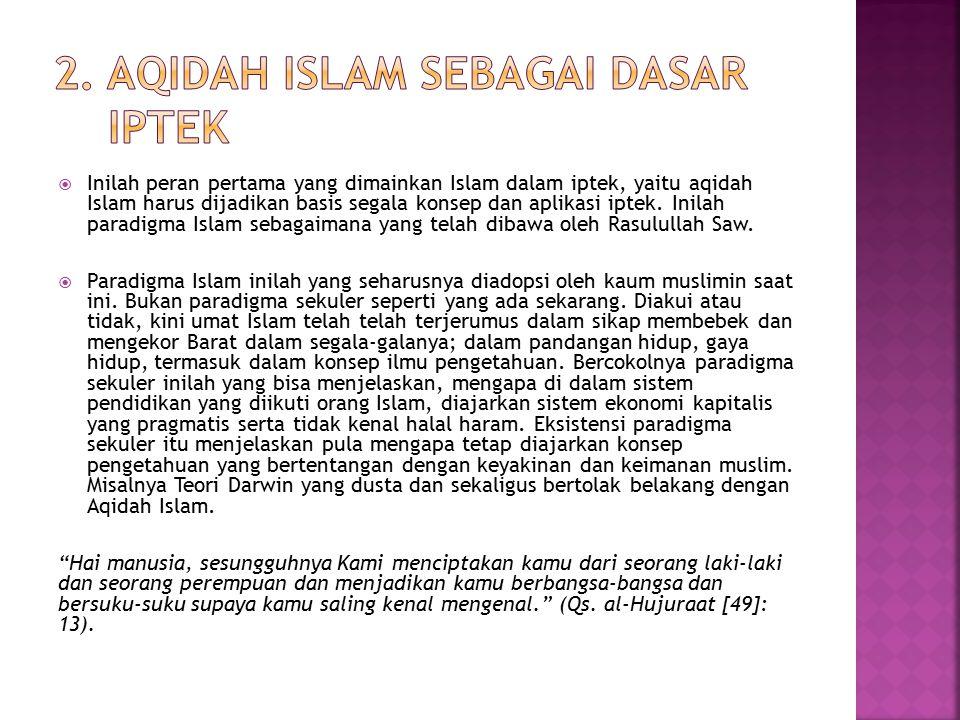 2. Aqidah Islam Sebagai Dasar Iptek