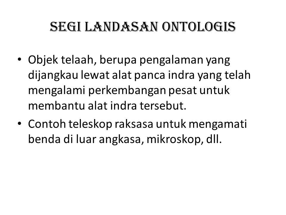 Segi Landasan ontologis