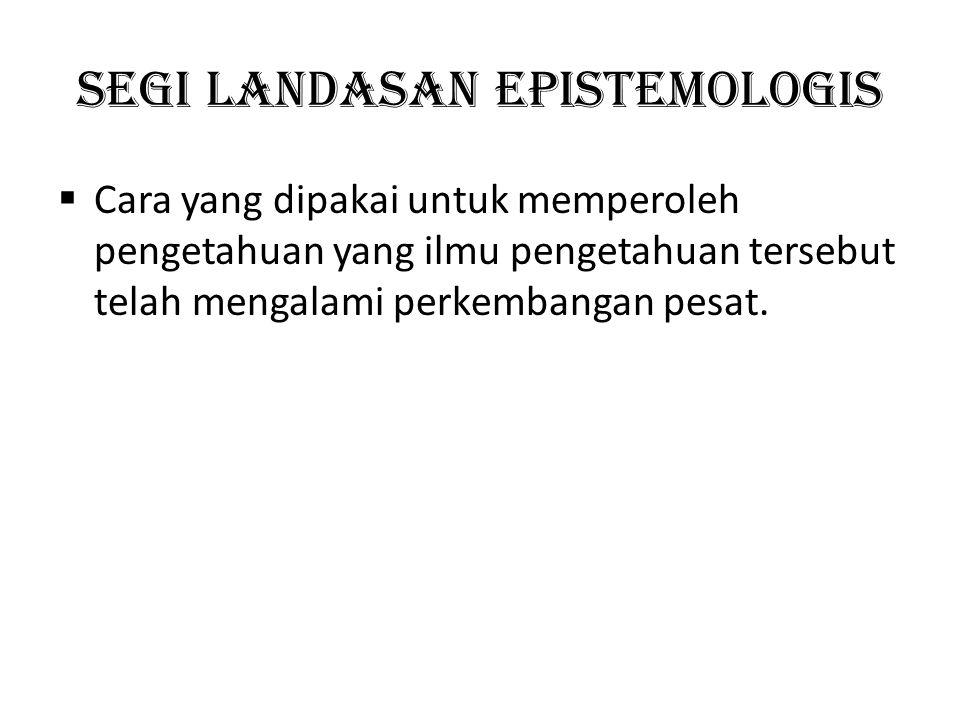 Segi landasan epistemologis