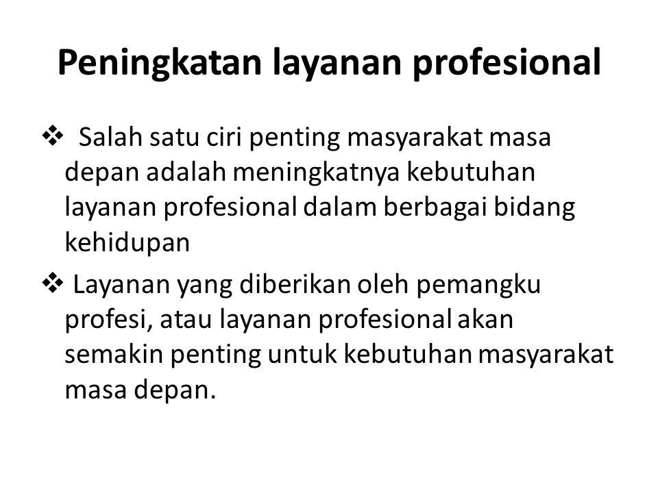 Peningkatan layanan profesional