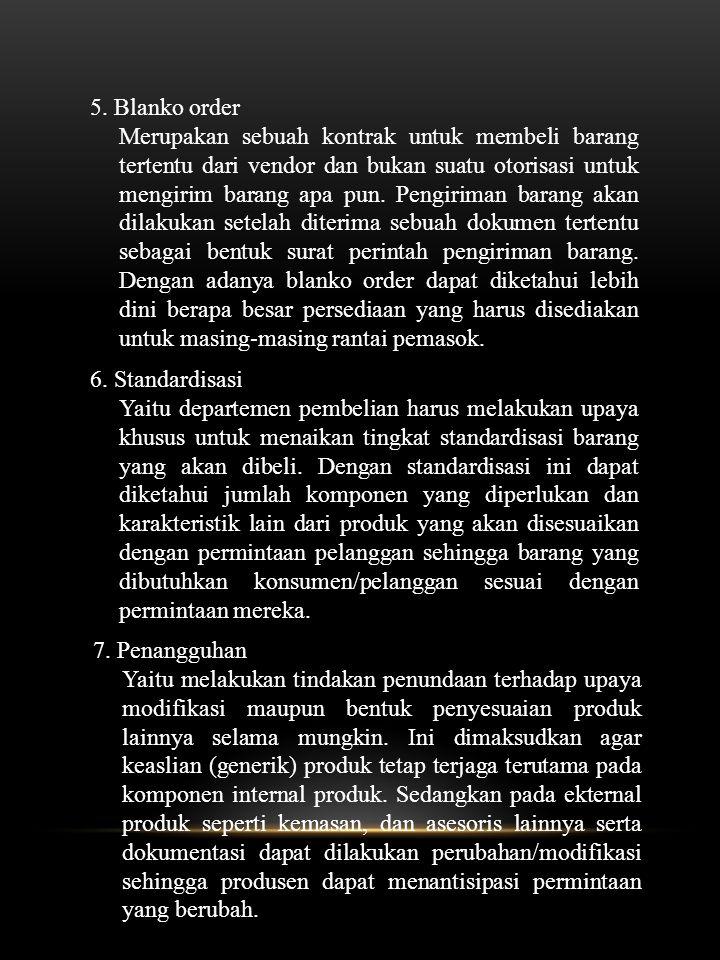 5. Blanko order