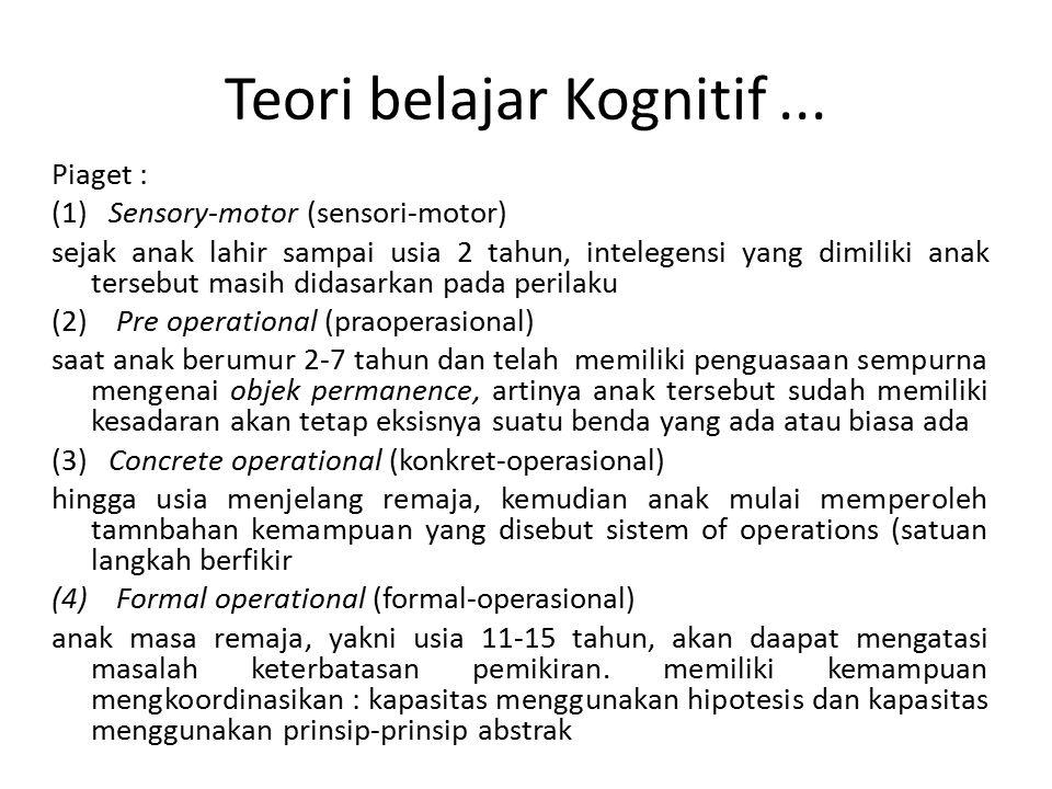 Teori belajar Kognitif ...