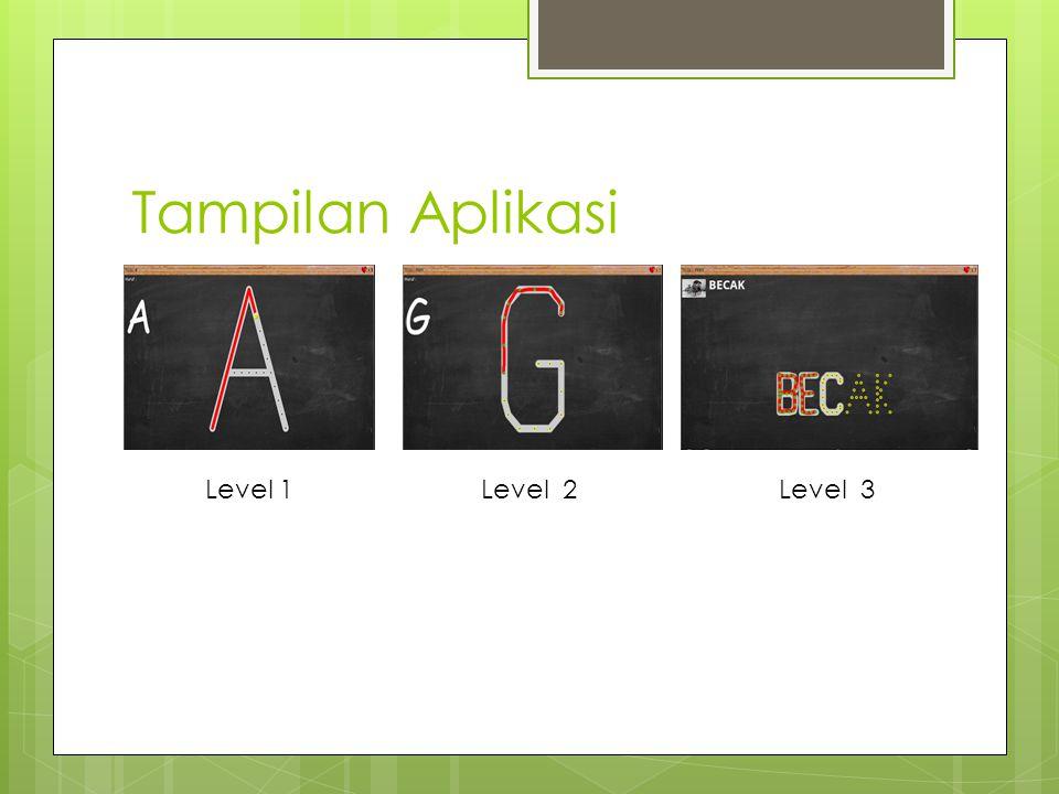 Tampilan Aplikasi Level 1 Level 2 Level 3