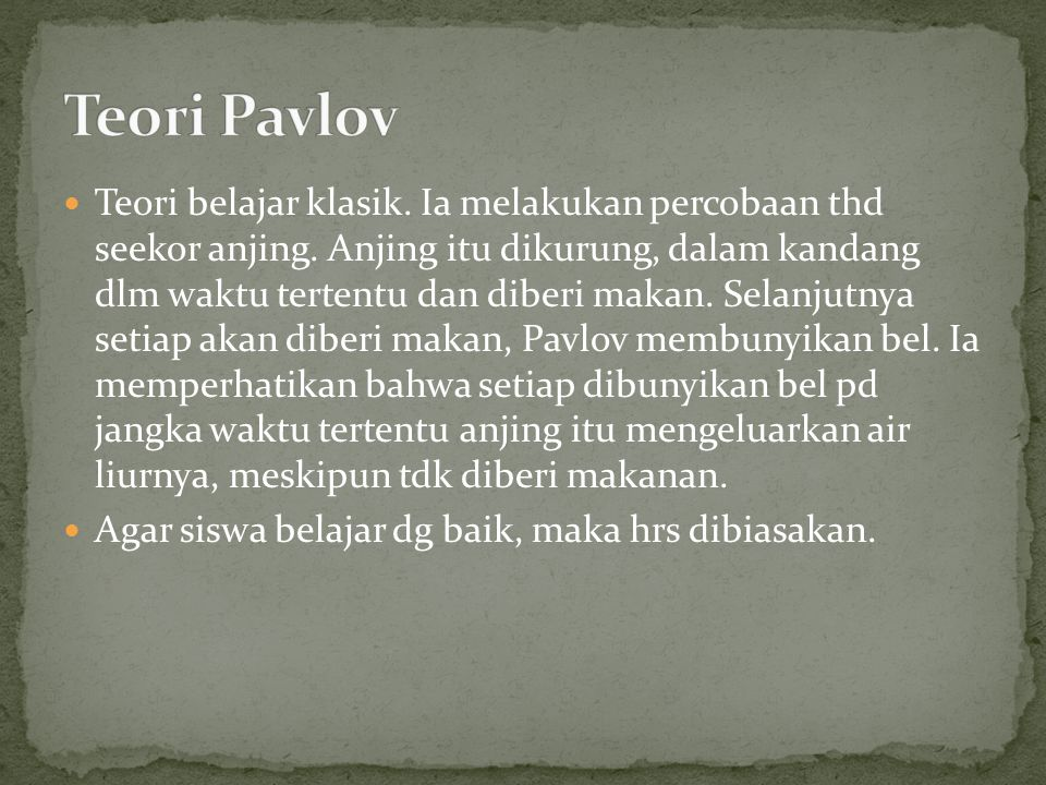 Teori Pavlov