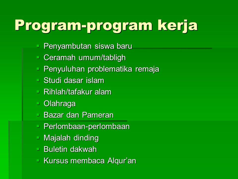 Program-program kerja