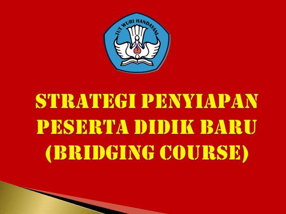 STRATEGI PENYIAPAN PESERTA DIDIK BARU (BRIDGING COURSE)
