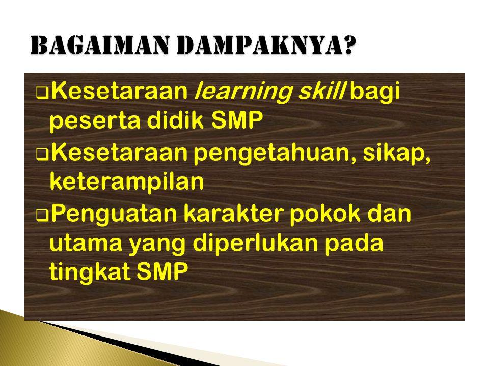 BAGAIMAN dampaknya Kesetaraan learning skill bagi peserta didik SMP