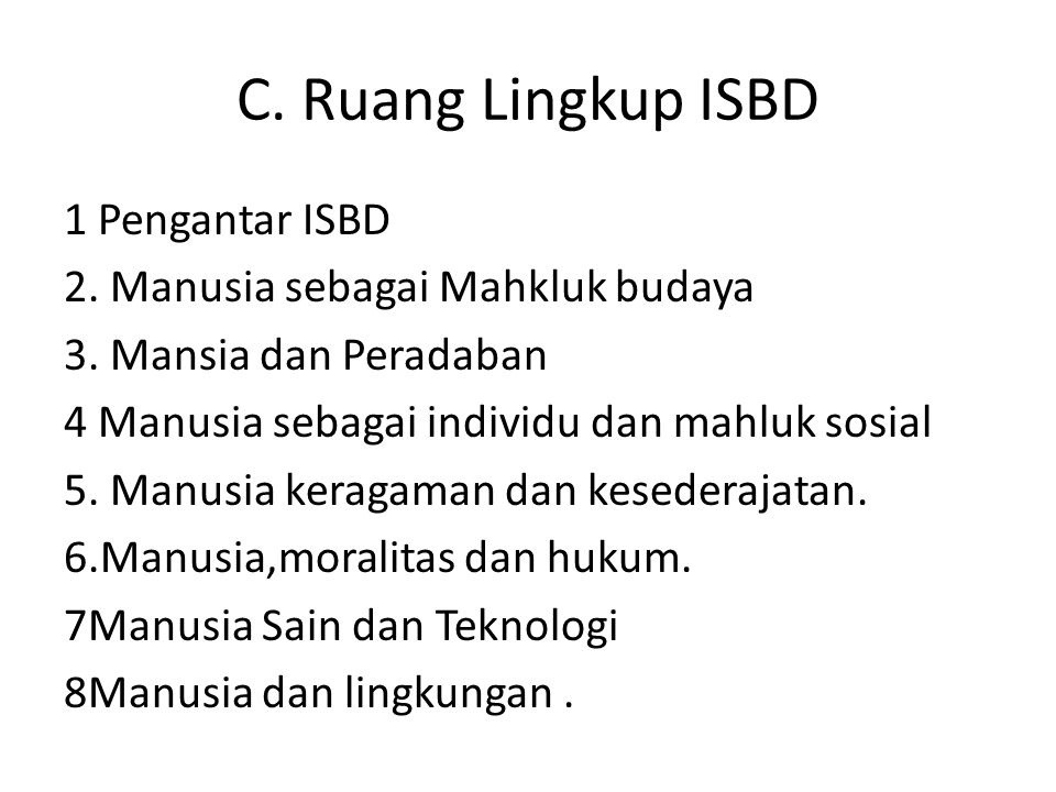 C. Ruang Lingkup ISBD