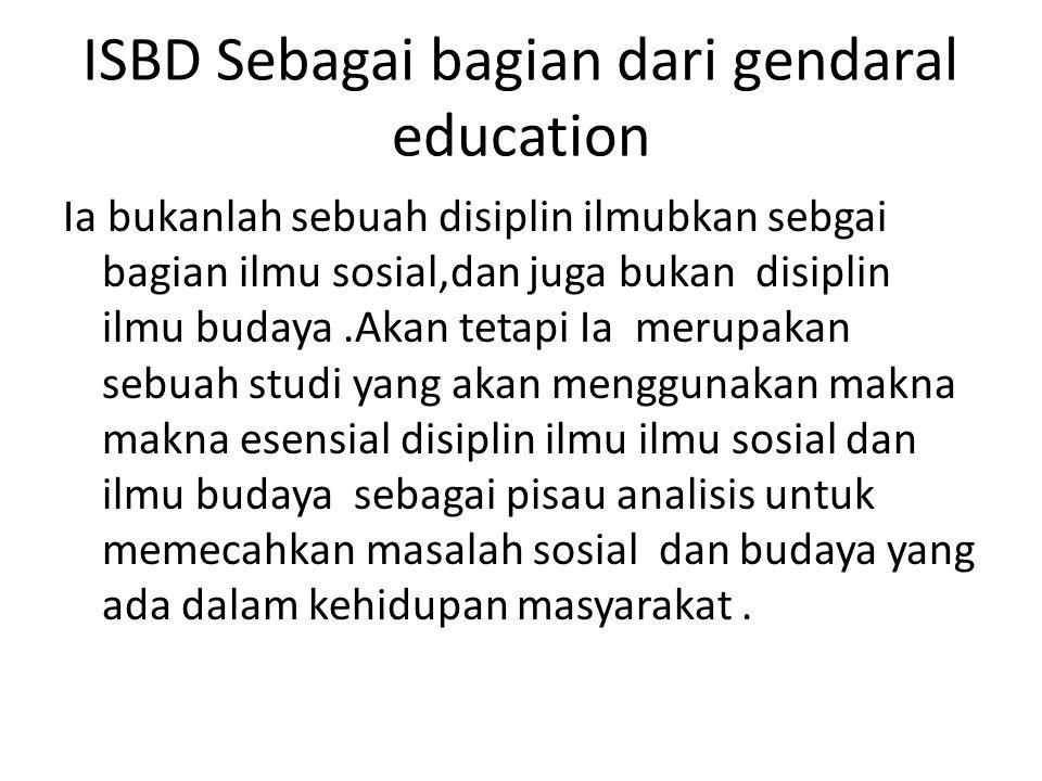 ISBD Sebagai bagian dari gendaral education