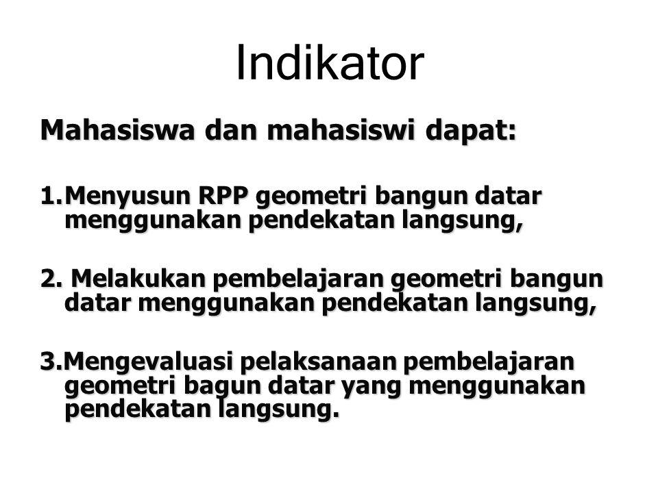 Indikator Mahasiswa dan mahasiswi dapat:
