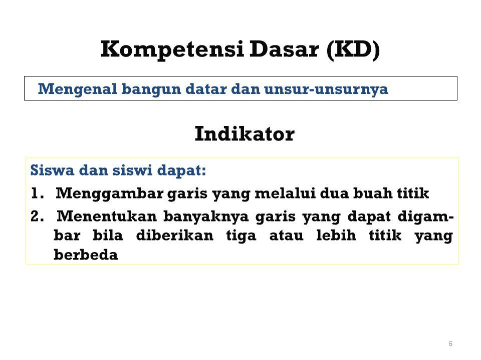 Kompetensi Dasar (KD) Indikator