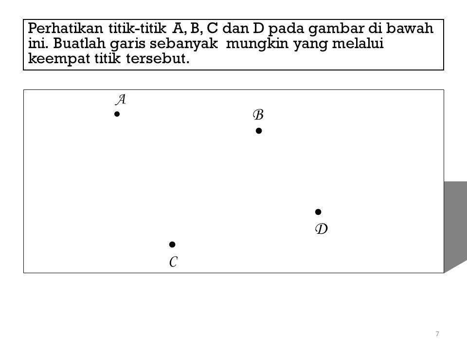 Perhatikan titik-titik A, B, C dan D pada gambar di bawah ini