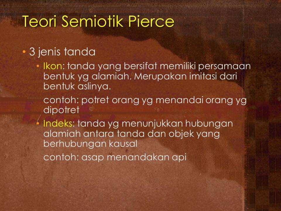 Teori Semiotik Pierce 3 jenis tanda
