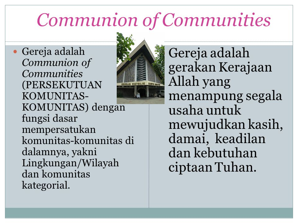 Communion of Communities
