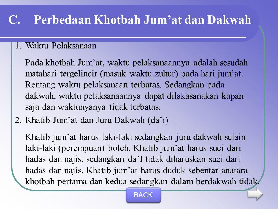 Perbedaan Khotbah Jum'at dan Dakwah