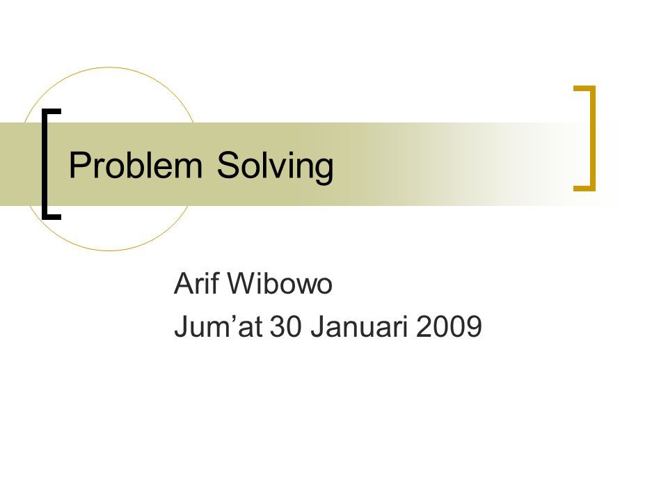 Arif Wibowo Jum'at 30 Januari 2009