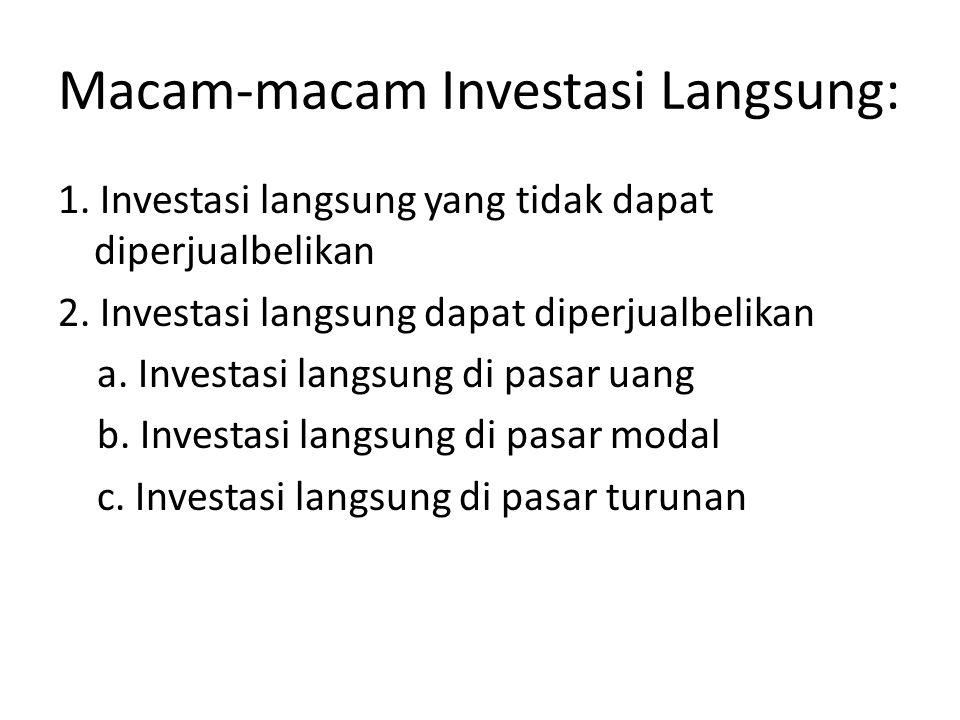 Macam-macam Investasi Langsung: