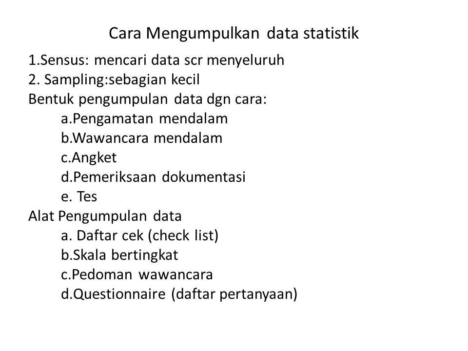 Cara Mengumpulkan data statistik