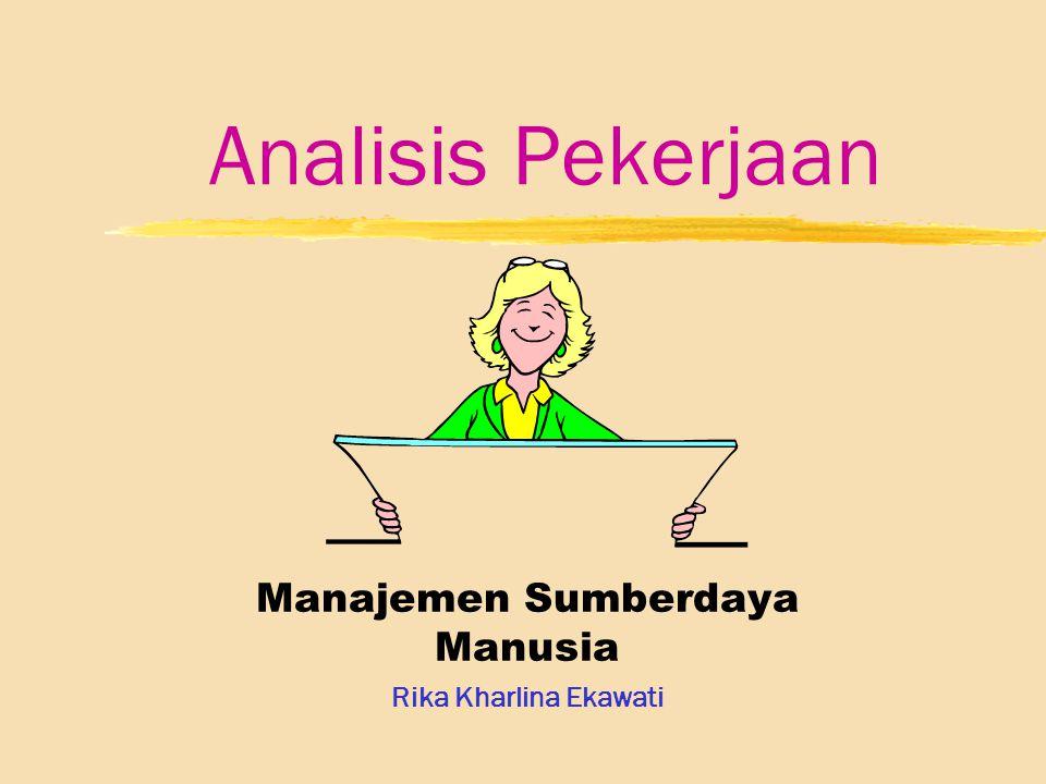 Manajemen Sumberdaya Manusia Rika Kharlina Ekawati