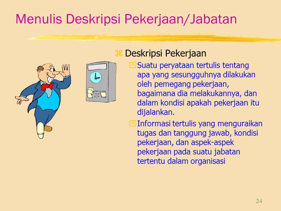 Menulis Deskripsi Pekerjaan/Jabatan