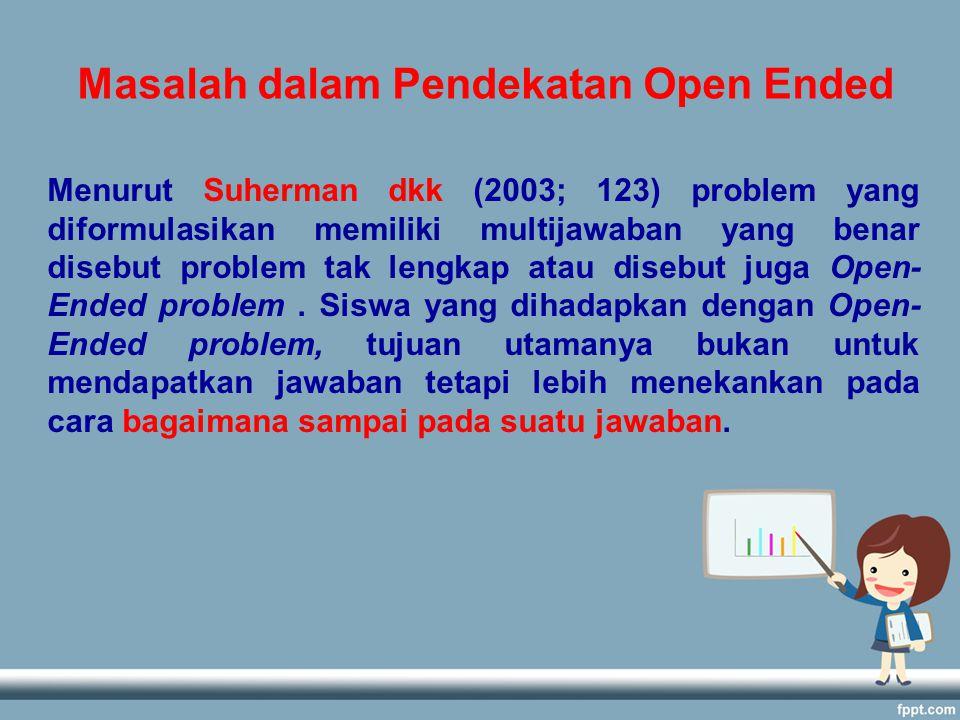 Masalah dalam Pendekatan Open Ended