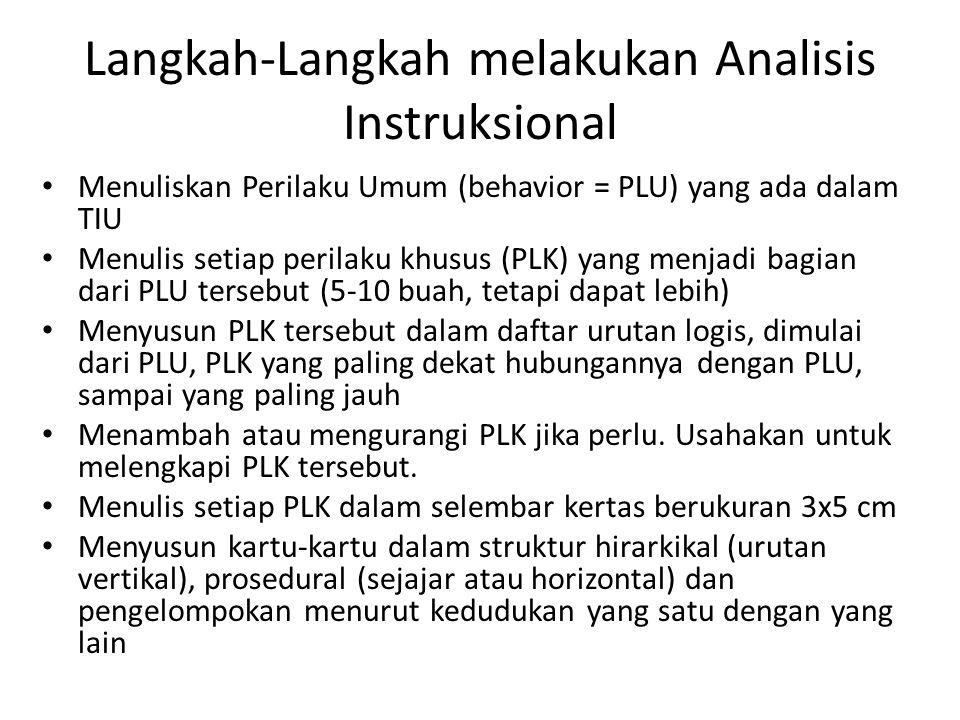 Langkah-Langkah melakukan Analisis Instruksional