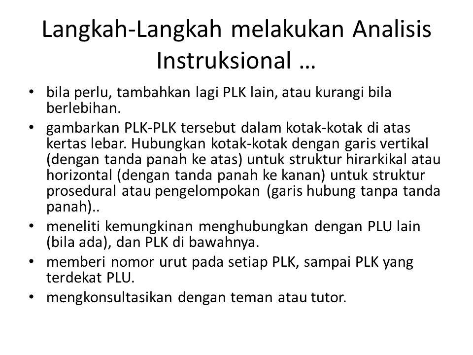 Langkah-Langkah melakukan Analisis Instruksional …