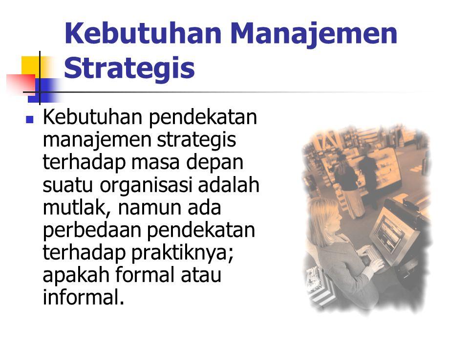 Kebutuhan Manajemen Strategis