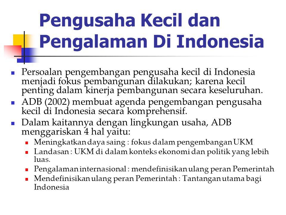 Pengusaha Kecil dan Pengalaman Di Indonesia