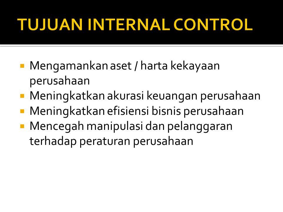 TUJUAN INTERNAL CONTROL