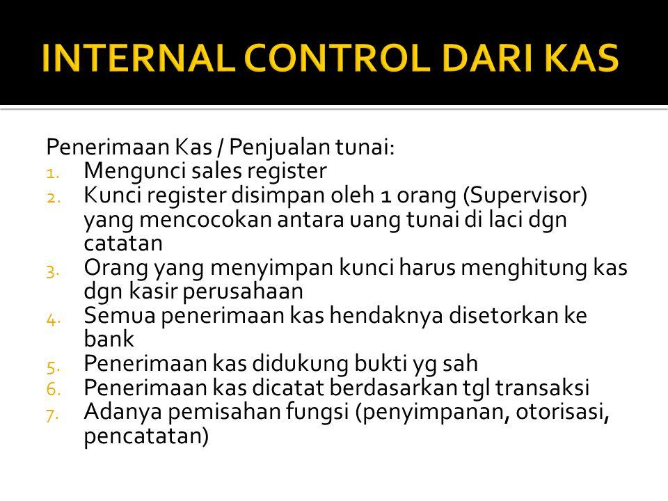 INTERNAL CONTROL DARI KAS