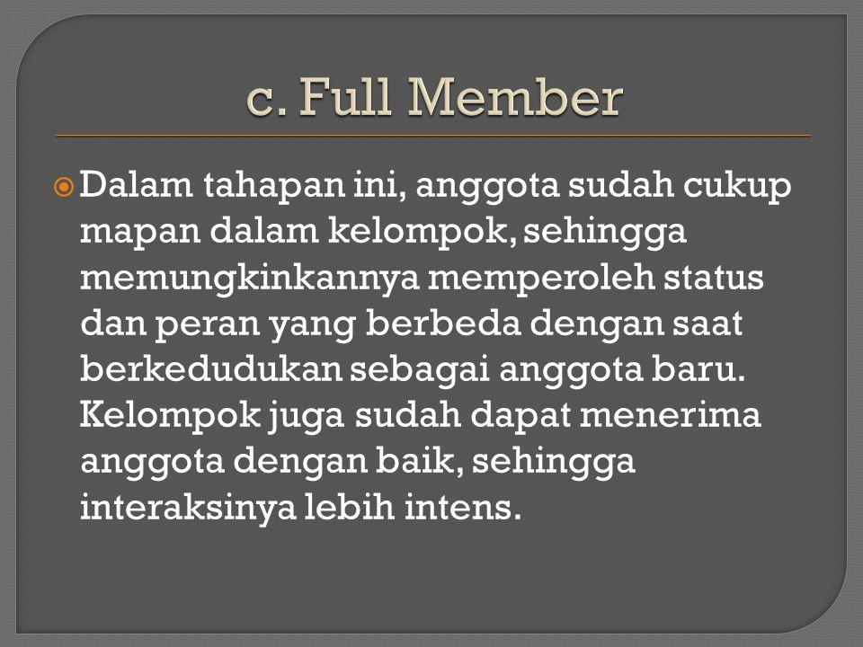 c. Full Member