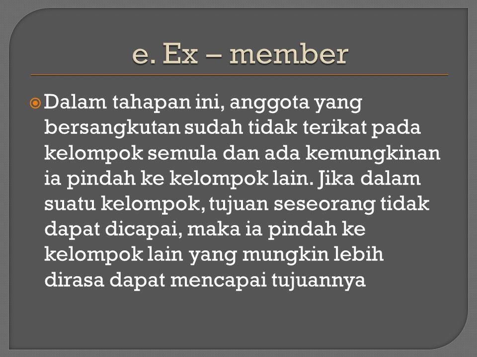 e. Ex – member
