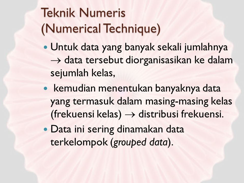 Teknik Numeris (Numerical Technique)
