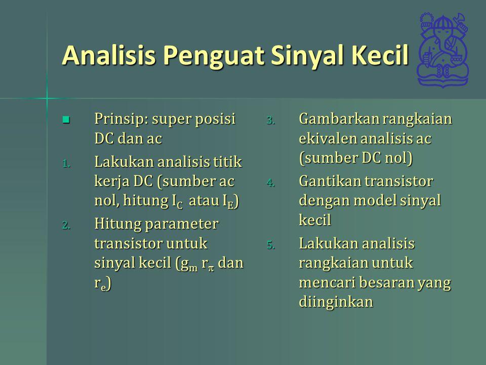 Analisis Penguat Sinyal Kecil
