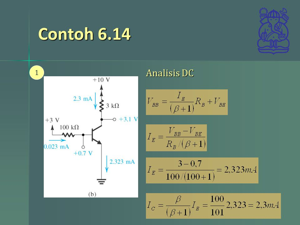 Contoh 6.14 1 Analisis DC