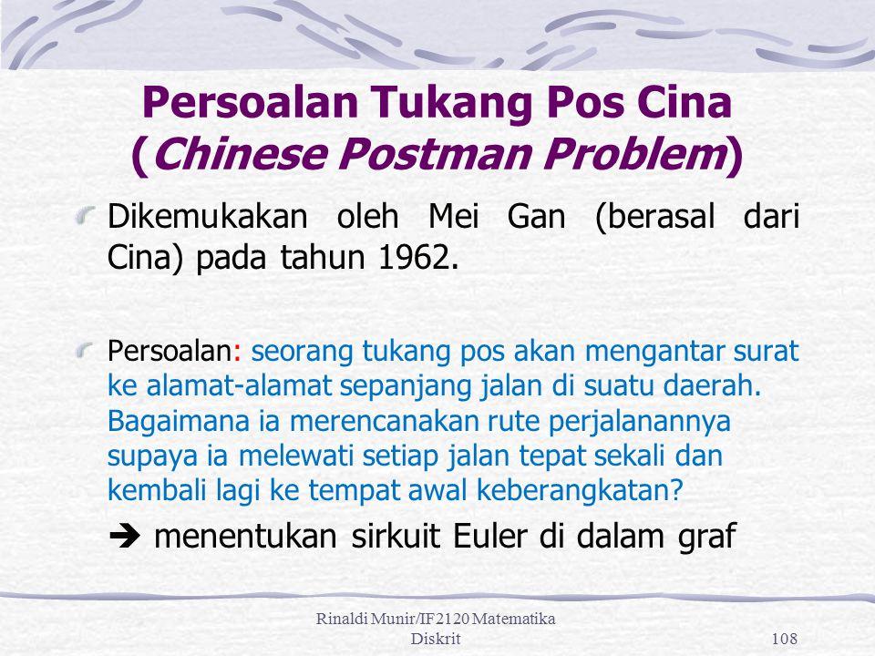 Persoalan Tukang Pos Cina (Chinese Postman Problem)