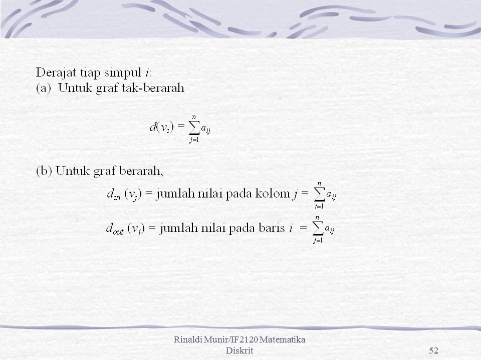 Rinaldi Munir/IF2120 Matematika Diskrit