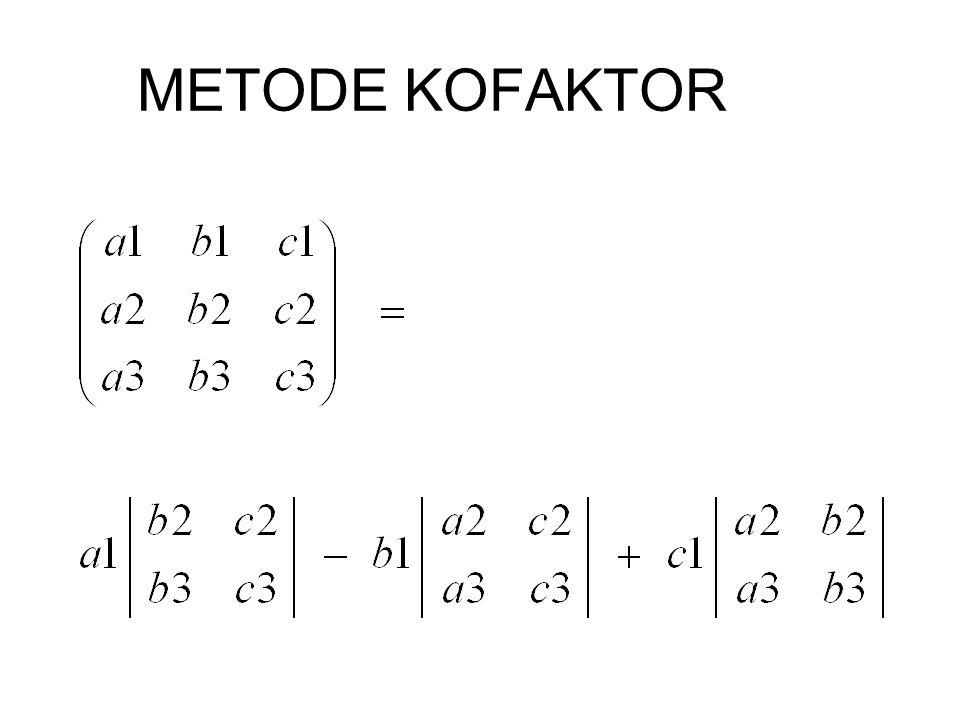 METODE KOFAKTOR