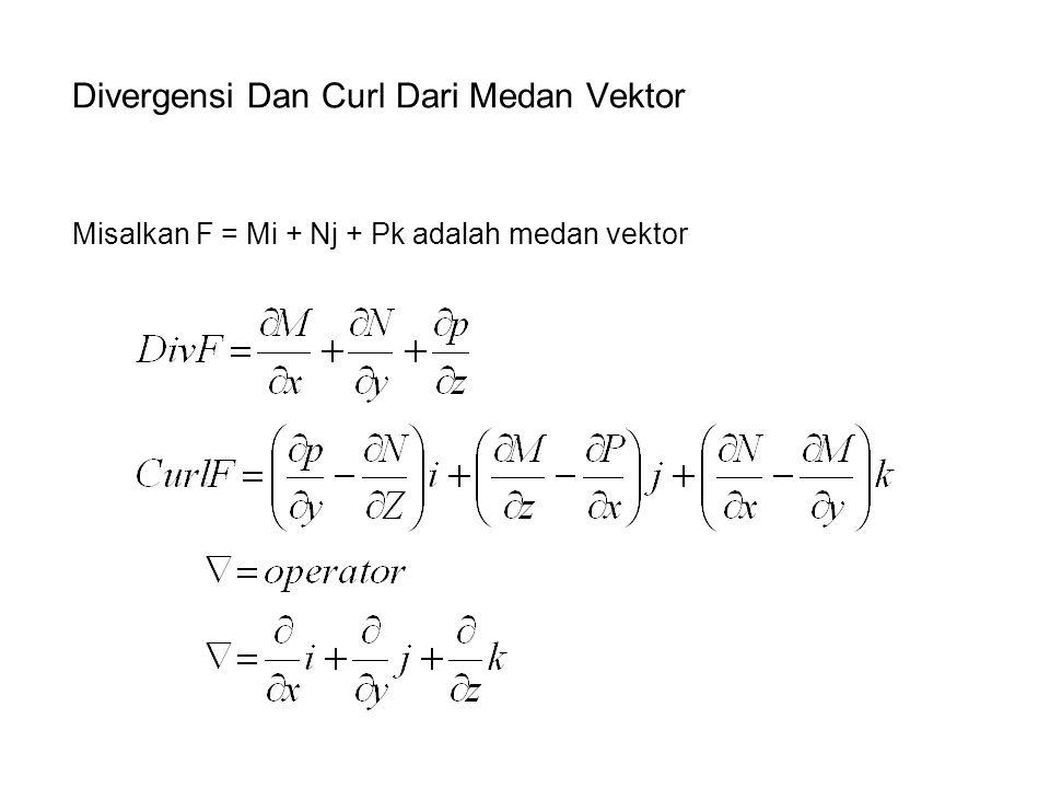 Divergensi Dan Curl Dari Medan Vektor