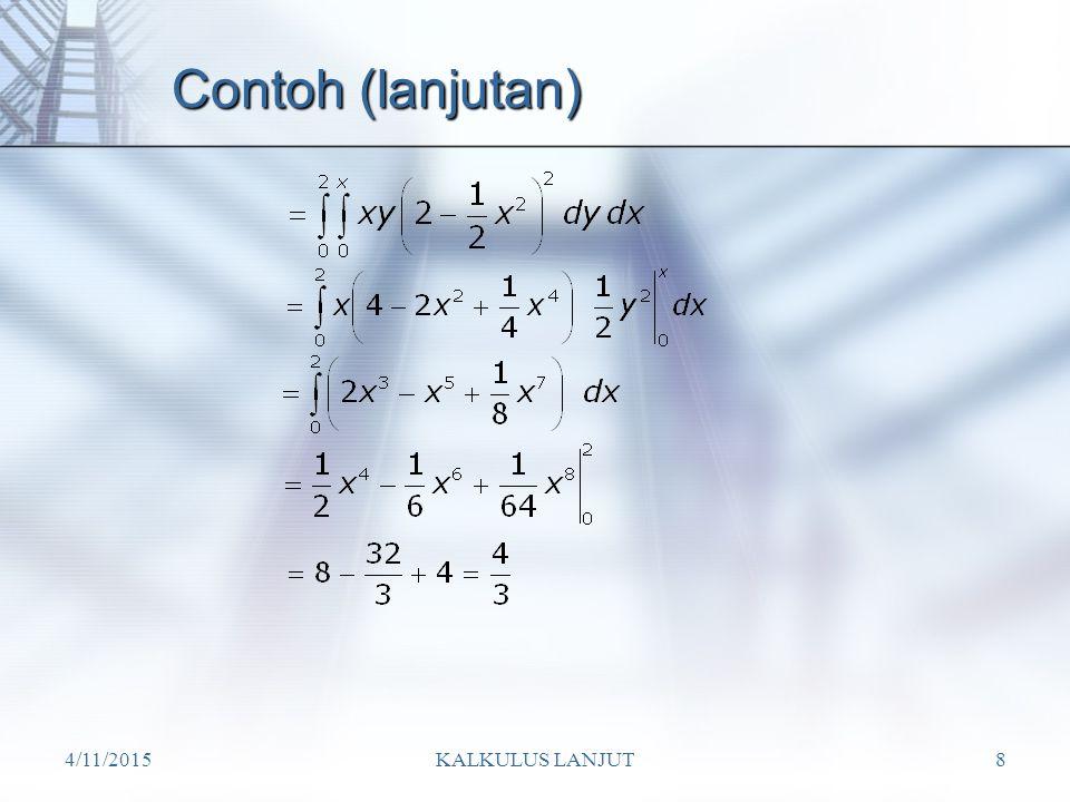 Contoh (lanjutan) 4/10/2017 KALKULUS LANJUT