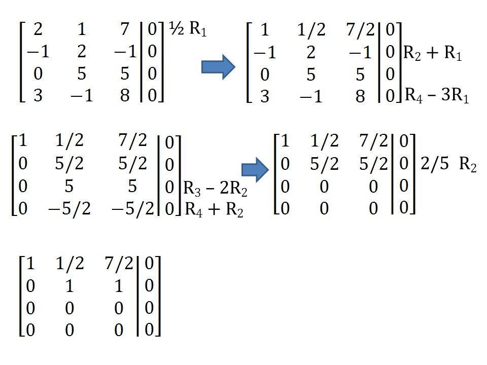 ½ R1 R2 + R1 R4 – 3R1 2/5 R2 R3 – 2R2 R4 + R2