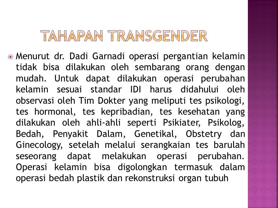 Tahapan Transgender