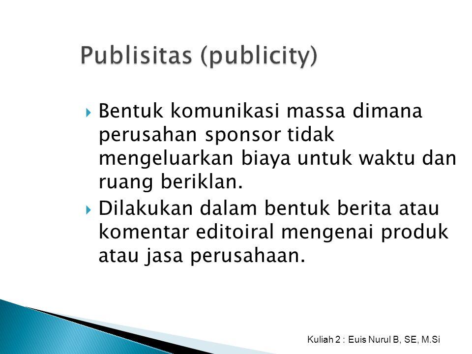 Publisitas (publicity)
