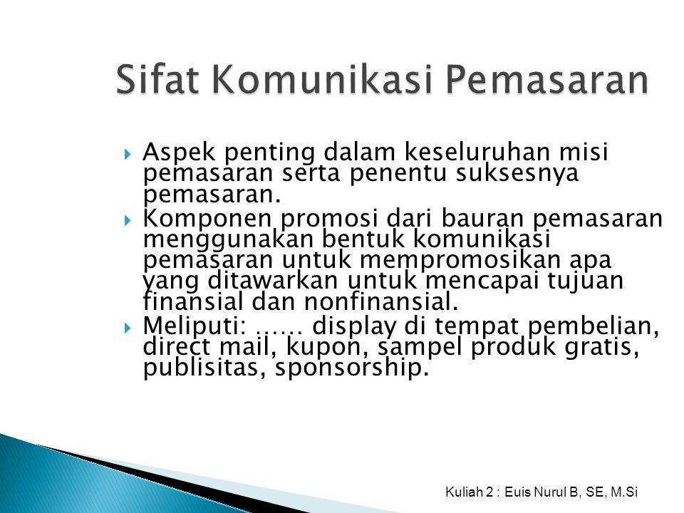 Sifat Komunikasi Pemasaran