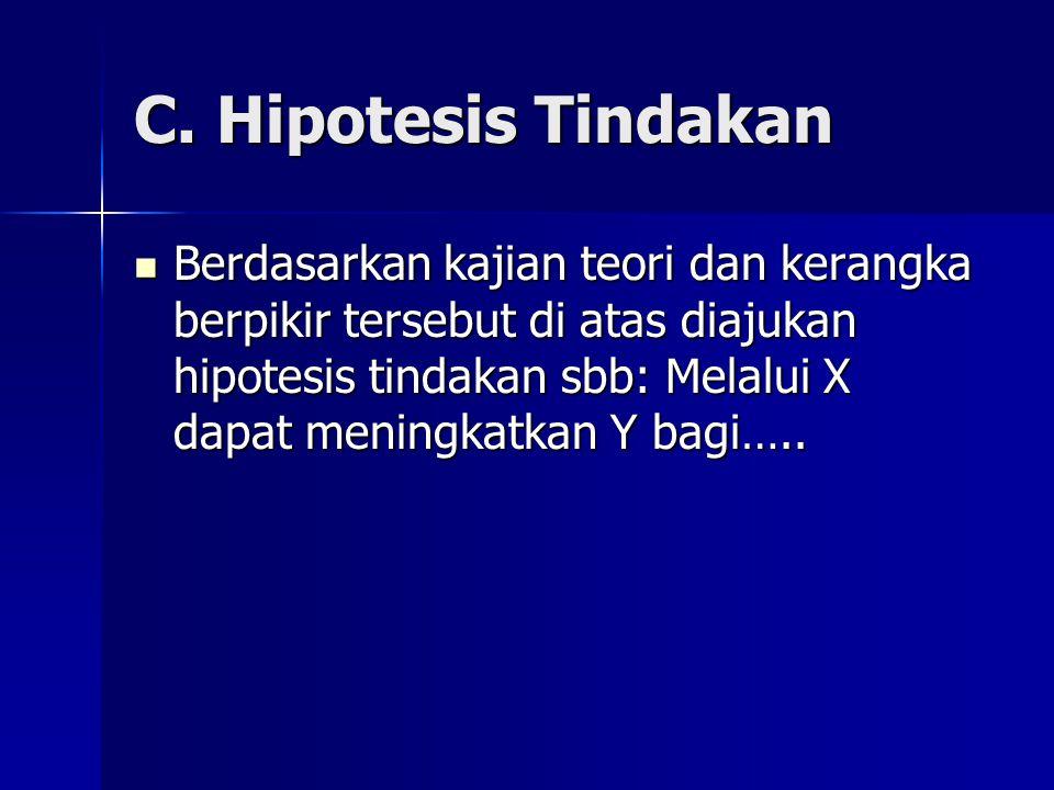 C. Hipotesis Tindakan