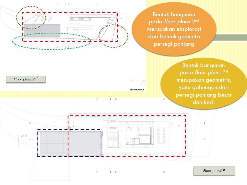 Bentuk bangunan pada floor plans 2nd merupakan eksplorasi dari bentuk geometri persegi panjang