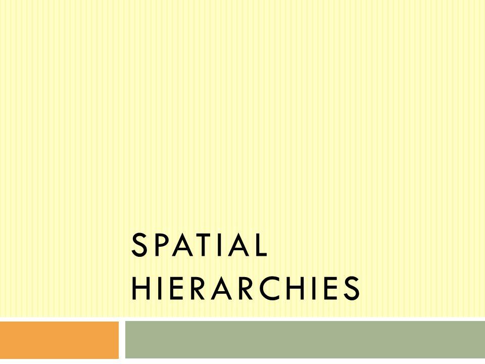 spatial hierarchies
