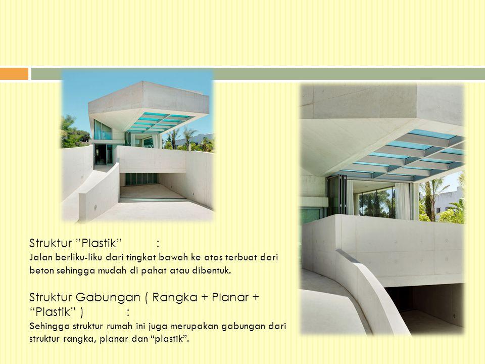 Struktur Gabungan ( Rangka + Planar + Plastik ) :